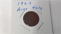 1863 army navy coin