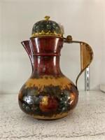 Tole-Painted Bulbous Coffee Pot