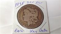 1895 key date Morgan silver dollar
