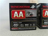 50 rds Winchester 410 gauge shotgun shells ammo