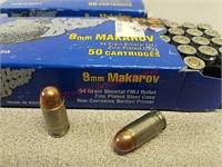 100 rds silver bear 9 mm Makarov ammo ammunition