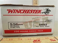200 rds Winchester 5.56 ammo ammunition FMJ