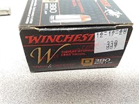 20 rds Winchester 380 auto JHP train and defend
