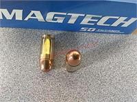 50 rds Magtech 380 Auto ammo ammunition
