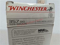 50 rds Winchester 357 Sig ammo ammunition FMJ