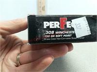 20 rds Perfecta 308 win ammo ammunition