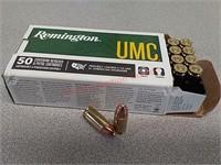 50 rds Remington UMC 9 mm ammo ammunition FMJ