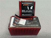 100 rds Winchester varmint 22 Win mag ammo