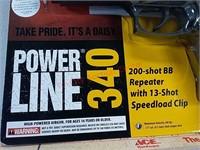 New Daisy Powerline 340 200-shot BB pistol gun
