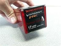 50 rds Winchester varmint 17 HMR ammo ammunition