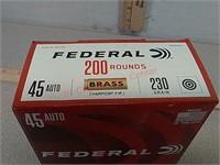200 rds Federal 45 Auto ammo ammunition FMJ