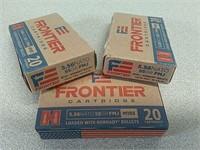60 rds Hornady Frontier 5.56 ammo ammunition FMJ
