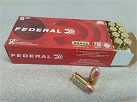50 rds Federal 45 ACP ammo ammunition FMJ