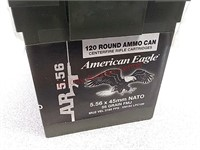 120 rds American Eagle 5.56 ammo ammunition in