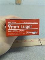50 rds Aguila 9mm fmj ammo ammunition