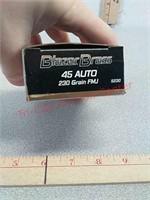 50 rds Blazer Brass 45 acp fmj ammo ammunition