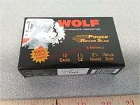 5-  Wolf 12ga shotgun slugs ammo ammuntion
