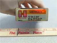 5- Hornady 12ga shotgun slugs ammo ammunition