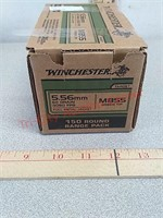150 rds Winchester 5.56 fmj green tip ammo