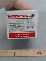 150 rds Winchester 5.56 fmj  ammo ammunition
