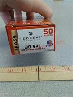 50 rds 38 special federal ammo ammunition