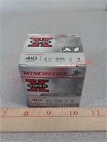 25 rds 410 shotgun shells brass ammo ammunition