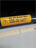 Bullet box target for 22LR - 17 HMR rimfire