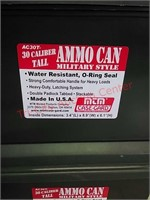 2 New 30 caliber tall plastic ammo cans