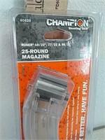 New Champion 25 round Ruger 10/22 magazine 22LR