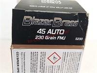 50 rds Blazer brass 45 Auto ammo ammunition