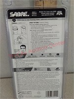 New Sabre defense pepper spray keychain with tear