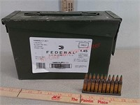 420 rds Federal 5.56 ammunition in metal ammo can