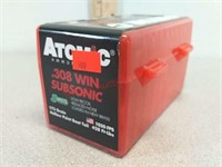 50 rds Atomic 308 win subsonic ammo ammunition in