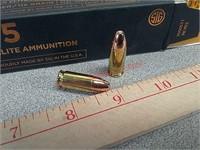 50 rds Sig 9 mm ammo ammunition Sig Sauer 365