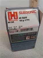 20 rds Hornady subsonic 40 S&W ammo ammunition