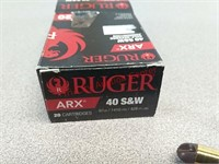 20 rds Ruger ARX 40 S&W ammo ammunition