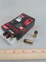 20 rds Ruger ARX 40 S&W ammo ammunition