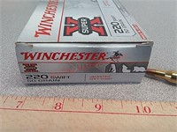 20 rds Winchester Super X 220 Swift ammo