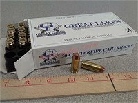 50 rds Great Lakes 10 mm Auto ammo ammunition