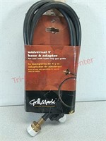 New grill mark Universal 4 foot hose and adapter