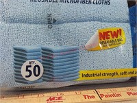 New 50 pack grab and clean reusable microfiber