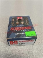 Hornady subsonic 40 s&w 20 rounds ammo ammunition