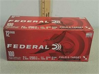 Federal 12 gauge 100 rounds ammo ammunition