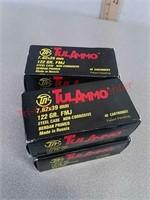 160 rounds 7.62 x 39 ammo ammunition steel case
