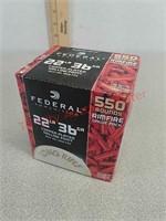 22 long rifle 550 rounds Federal ammo ammunition