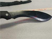 17-in machete knife with sheath