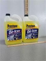 2 gallon prestone de-icer winter windshield