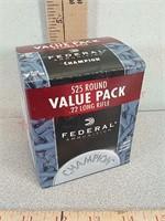 525 rds Federal 22LR ammo ammunition
