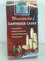 New 50 count Hornady 223 cartridge ammo cases