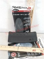 2 new Amend2 30 round AR-15 rifle magazines 5.56